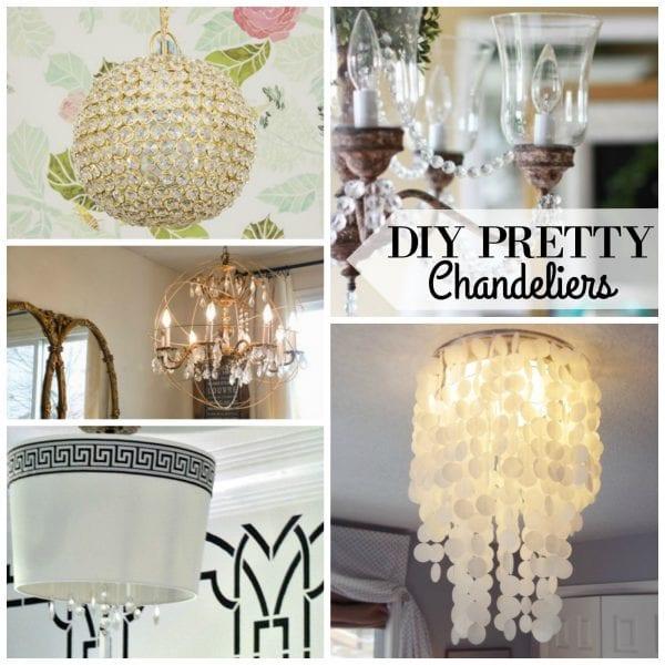 DIY Pretty Chandeliers via Remodelaholic.com