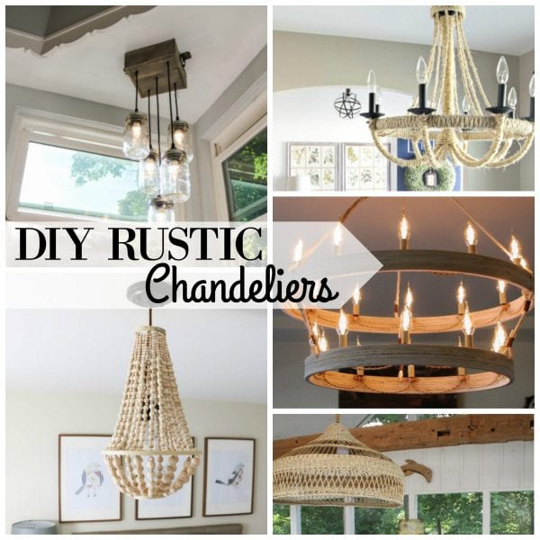 Popular DIY Rustic Chandeliers via Remodelaholic