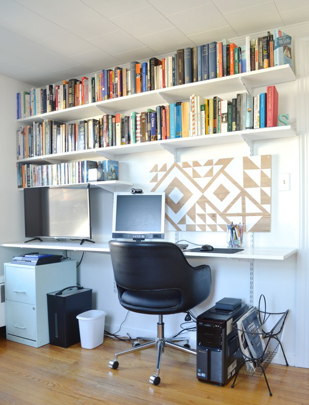 remodelaholic how to build a modern industrial wood and. Black Bedroom Furniture Sets. Home Design Ideas