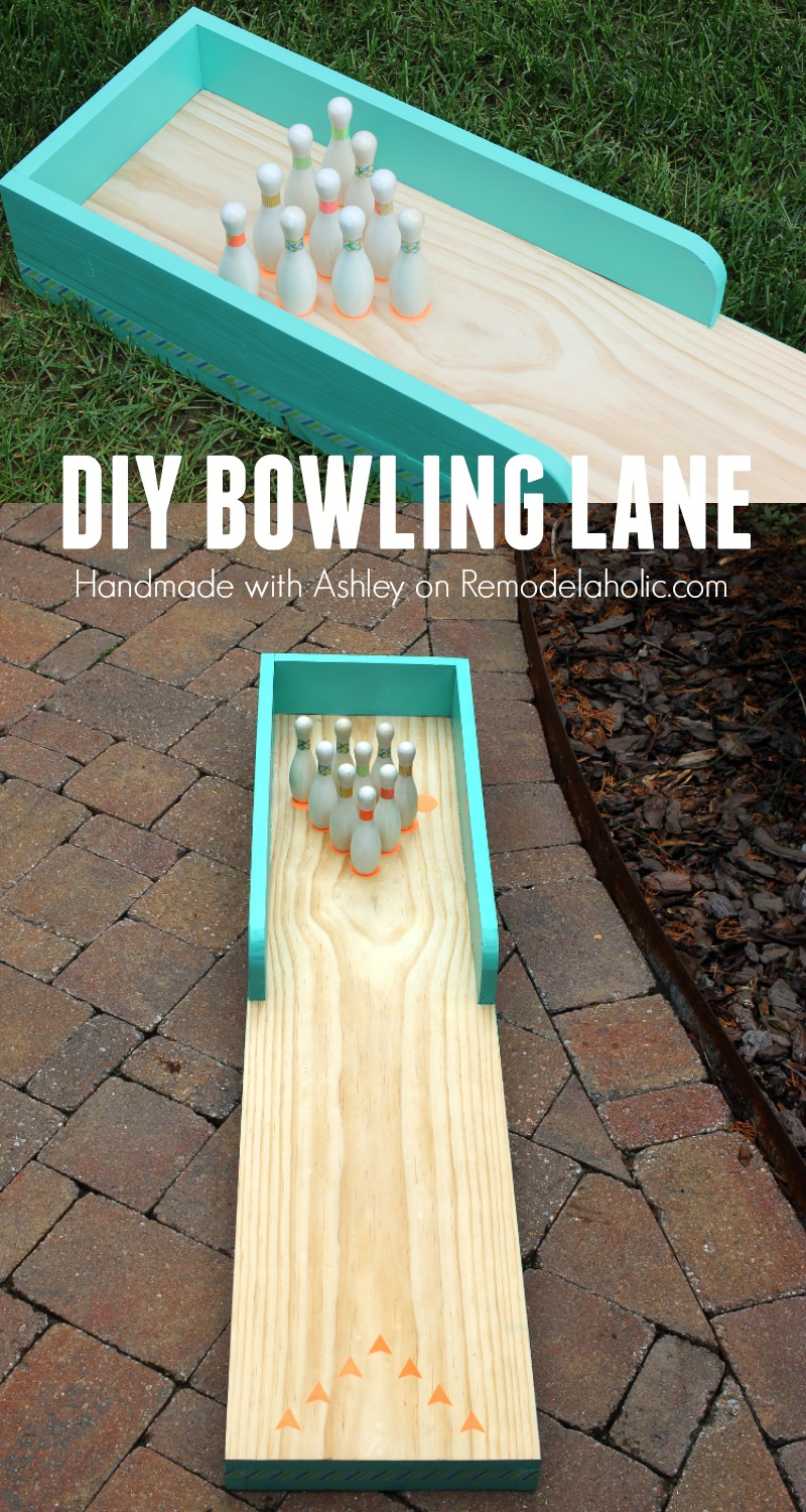 Remodelaholic | DIY Indoor-Outdoor Bowling Lane