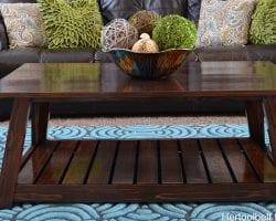 DIY slat coffee table feature