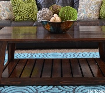 DIY Slat Coffee Table