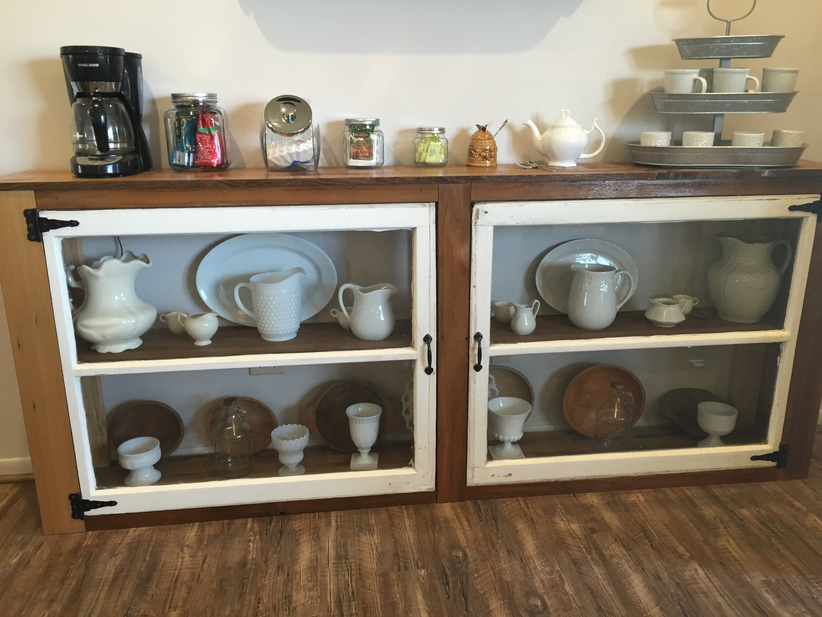 DIY Tutorial To Build A Buffet Or Console Table From Old Windows And  Reclaimed Wood The
