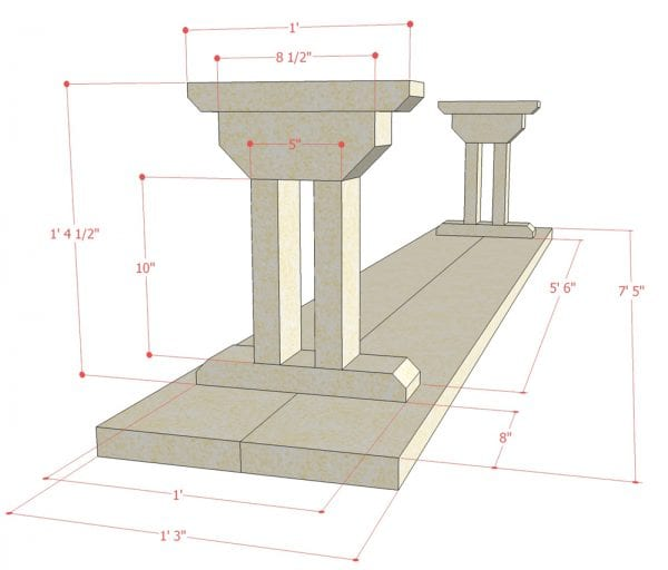 Remodelaholic Rustic X Dining Table And Bench Building Plan : Dining Table Bench Plans apieceofrainbowblog 12 600x512 from www.remodelaholic.com size 600 x 512 jpeg 28kB