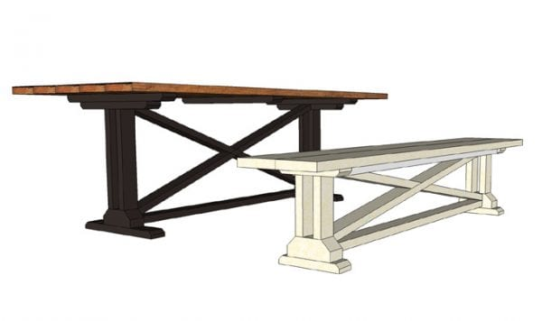 build a dining room table with leaf bench plans leaves