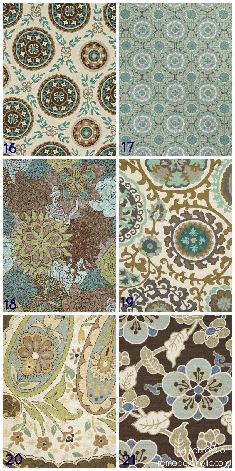 Remodelaholic 20 green and blue area rugs you 39 ll love for Area carpets and rugs