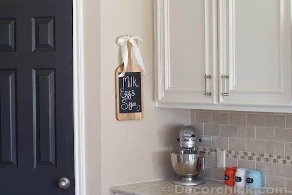 Kitchen Cutting Board Chalkboard