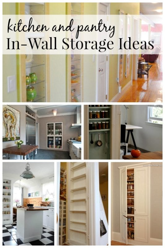 Charmant Kitchen And Pantry In Wall Storage Ideas Via Remodelaholic.com