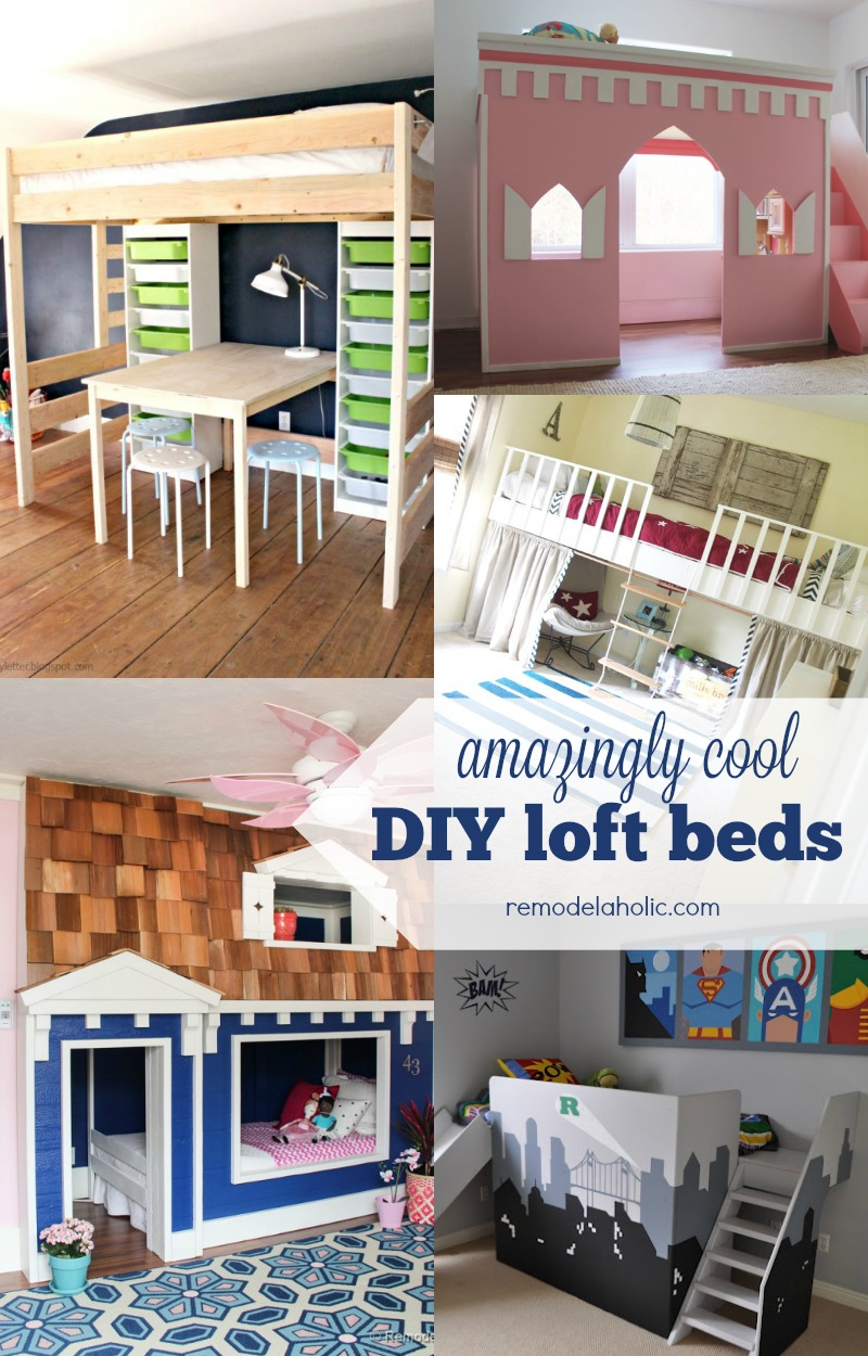 Picture of: Remodelaholic 15 Amazing Diy Loft Beds For Kids