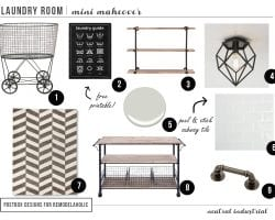 Industrial Laundry Room Mini Make-over, Postbox Designs