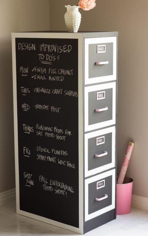 Chalkboard File Cabinet