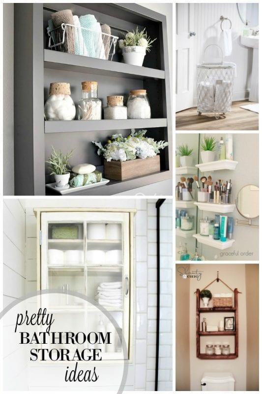 Pretty Bathroom Storage Ideas