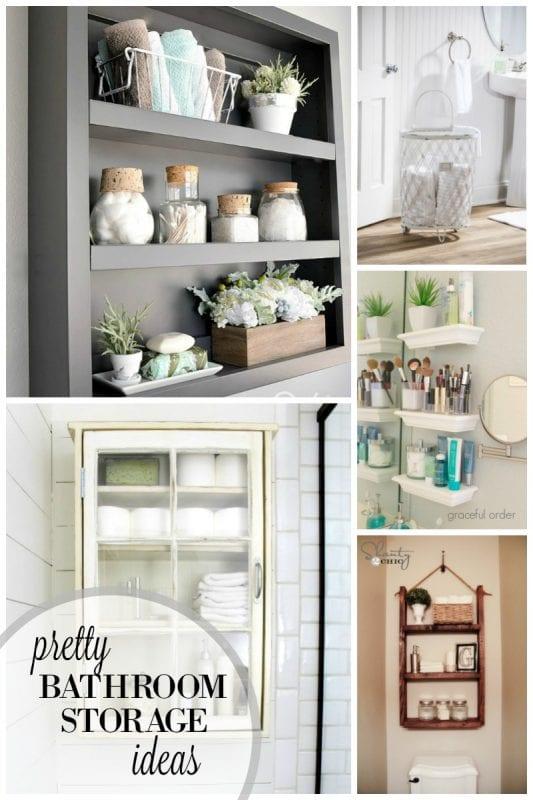 Pretty Bathroom Storage IdeasRemodelaholic   30 Bathroom Storage Ideas. Bathroom Storage Ideas. Home Design Ideas