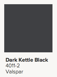 Valspar Dark Kettle Black Paint Color