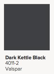 Valspar Dark Kettle Black Paint Color