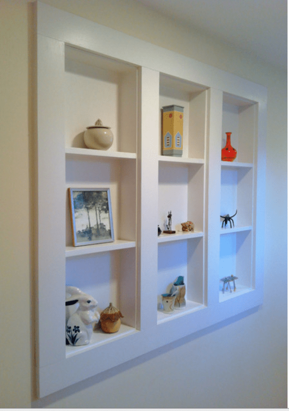 In-Wall Display Case