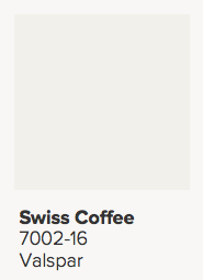 Valspar Swiss Coffee Paint Color