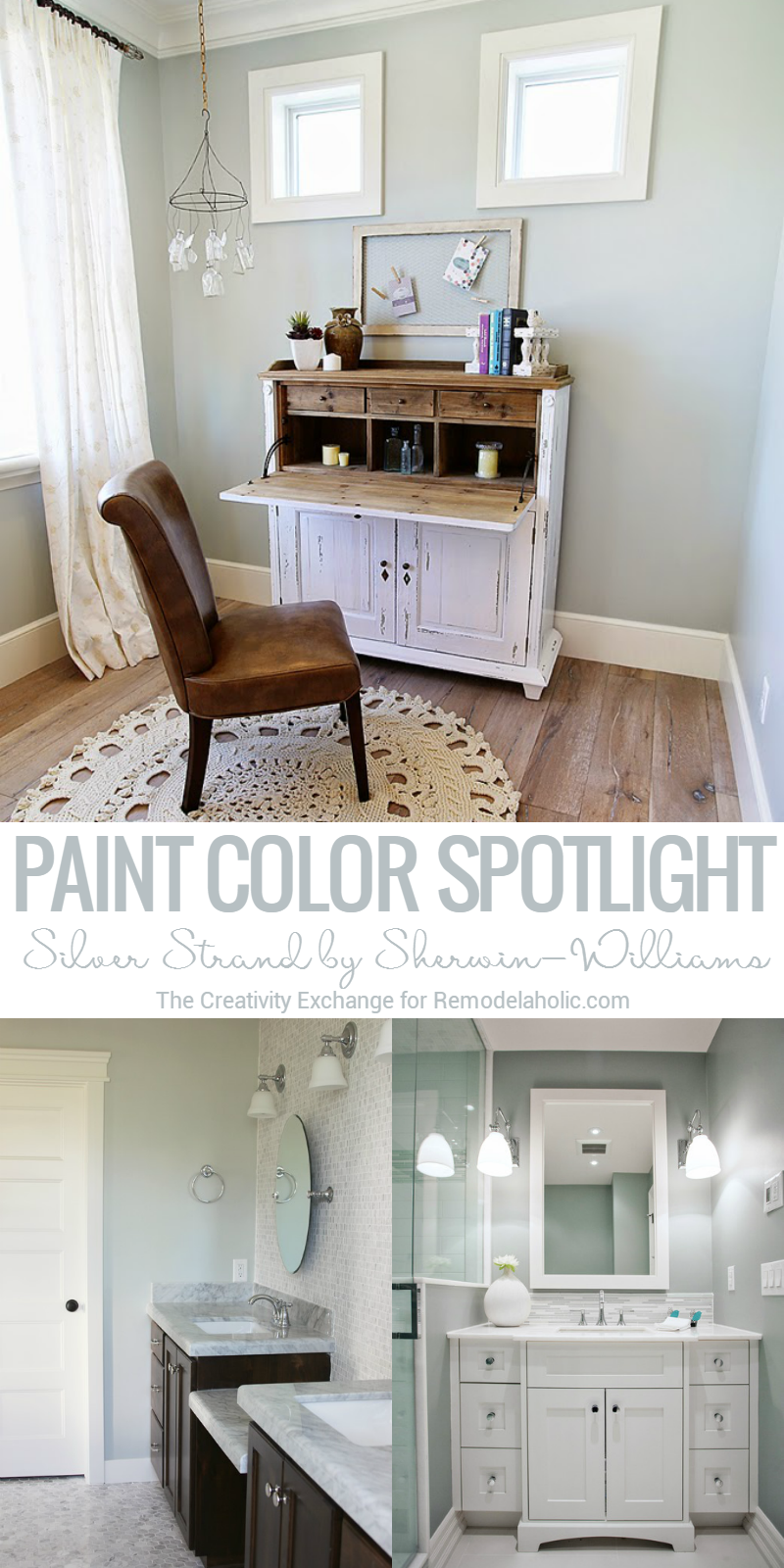 light gray paint colorsRemodelaholic  Color Spotlight Silver Strand by SherwinWilliams