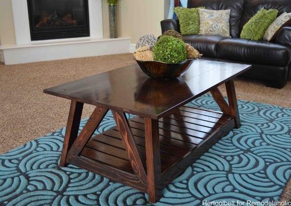 Slat coffee table- brown