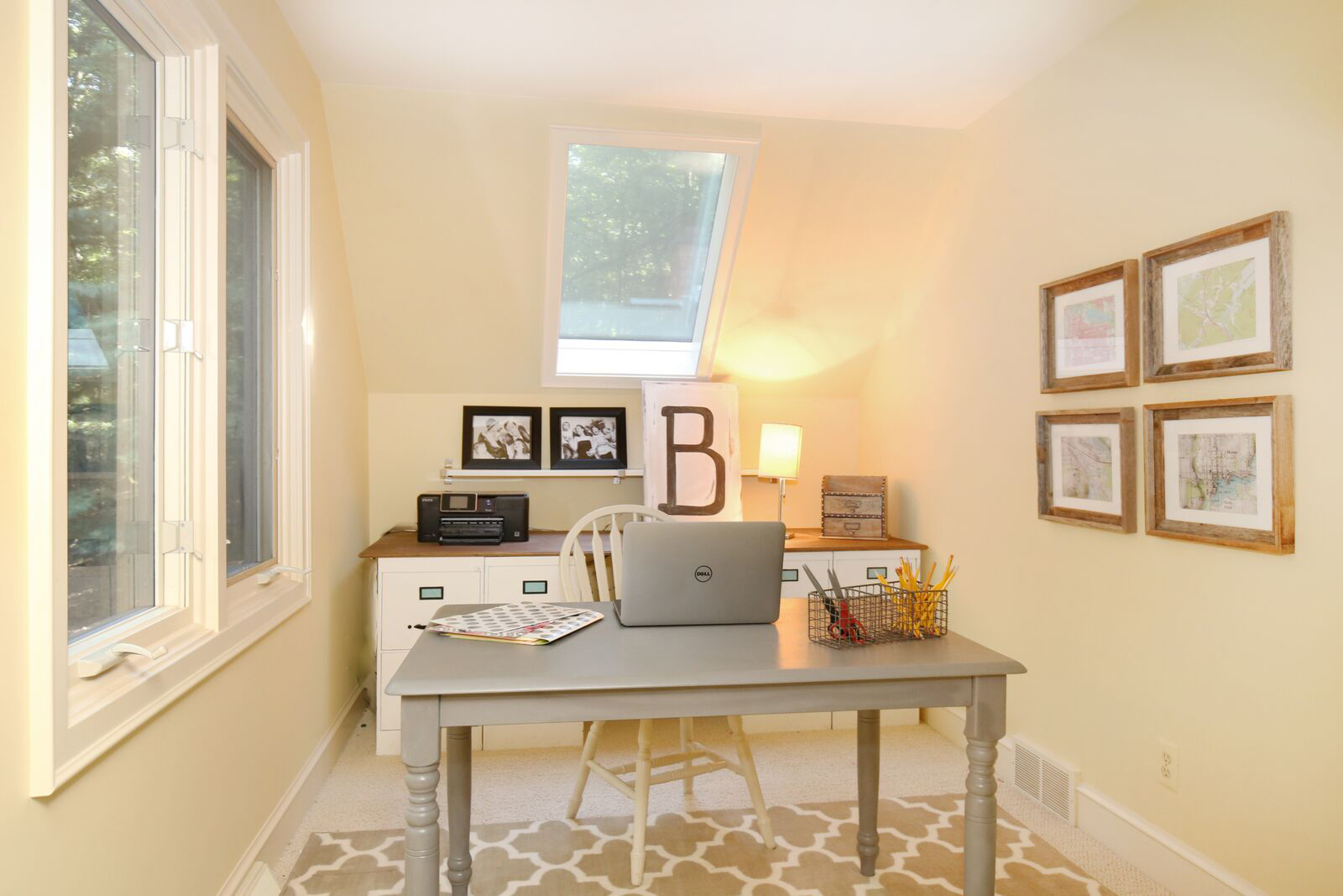 Remodelaholic 250 budget home office makeover with diy for Design makeover