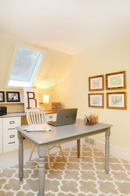Remodelaholic 250 Budget Home Office Makeover with DIY Filing