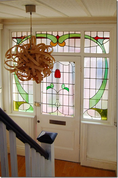 Stained Glass Entry, that's all I dream about...   100+ Beautiful Mudrooms and Entryways at Remodelaholic.com