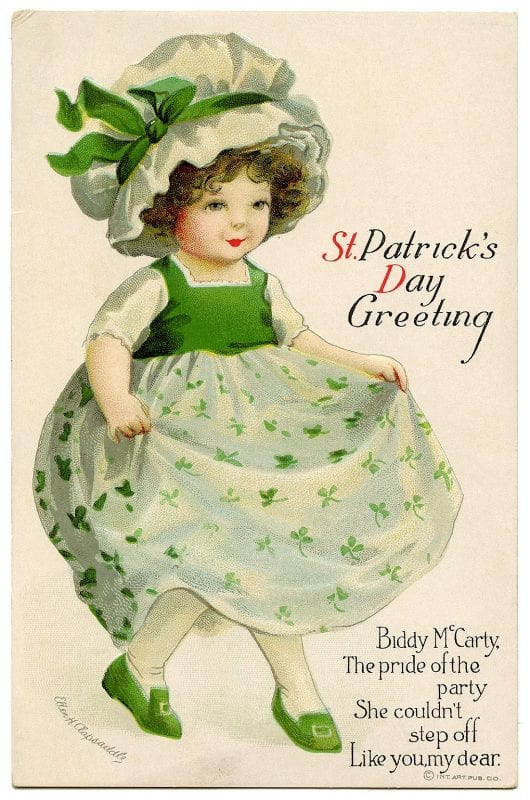 Vintage St. Patrick's Day images from The Graphics Fairy on Remodelaholic