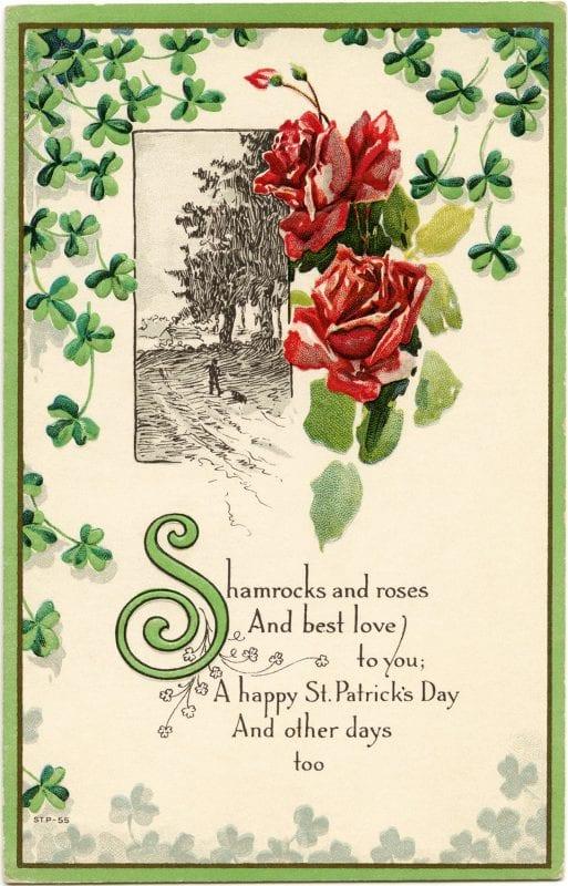 Printable vintage St. Patrick's Day images from The Old Design Shop via Remodelaholic