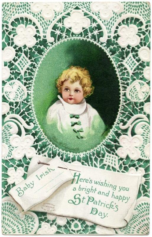 Vintage St. Patrick's Day images from the Old Design Shop via Remodelaholic