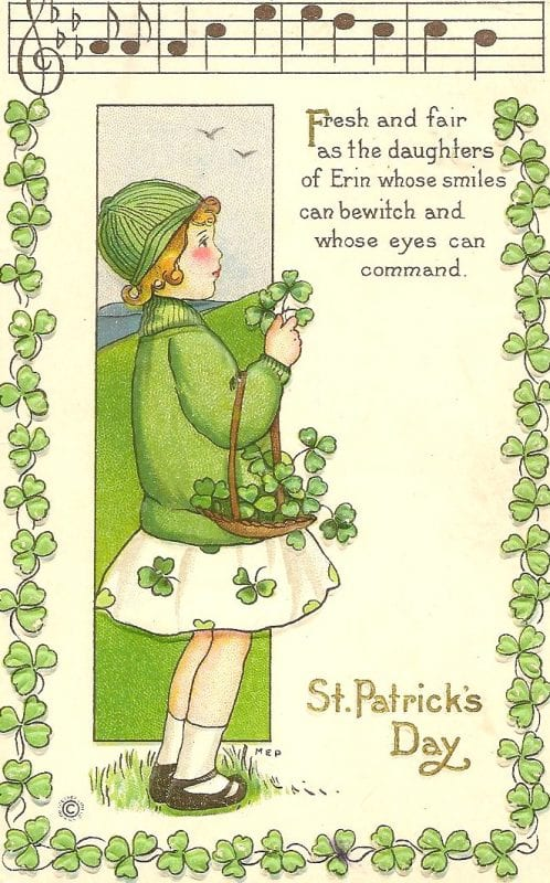 Vintage St. Patrick's Day printable images from the Little Pink Studio Via Remodelaholic