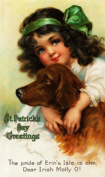 Vintage St. Patrick's Day images from the Little Pink Studio via Remodelaholic