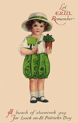 Vintage St. Patrick's Day images from Sweetly Scrapped on Remodelaholic