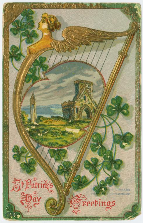 Vintage St. Patrick's Day printable decorations from Streets of Salem via Remodelaholic