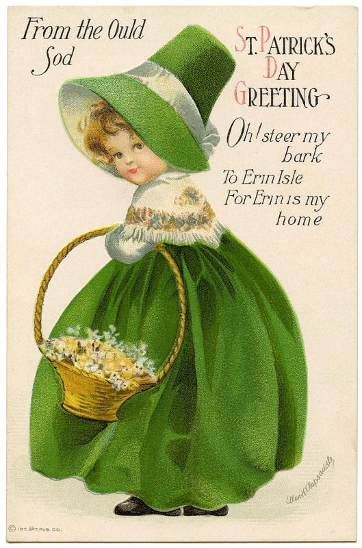 Vintage St. Patrick's Day images from The Little Pink Studio on Remodelaholic