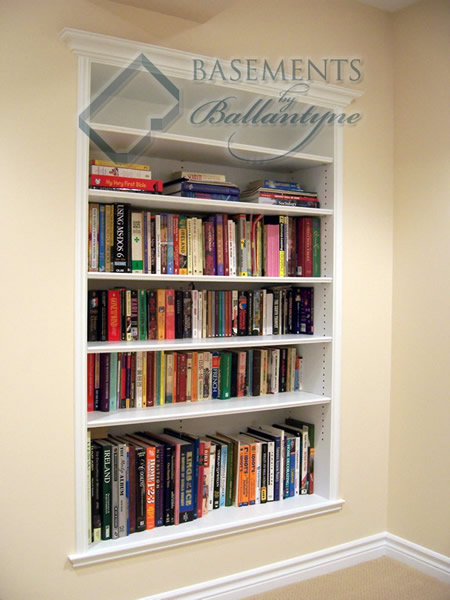 basement mdf bookcase