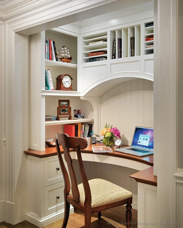beautiful built-in desk for a home office by Jan Gleysteen