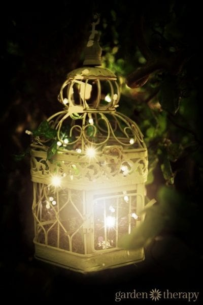 Metal Bird Cage String Lights : Remodelaholic 36 Clever String Light Ideas