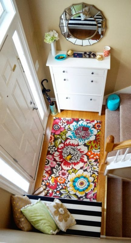 Bright Foyer Colors : Remodelaholic inspiring mudrooms and entryways