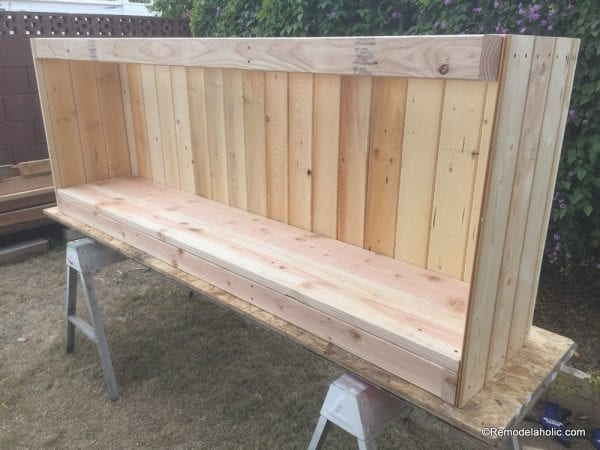 build a farmhouse style planked x tv console or sideboard @Remodelaholic (16)