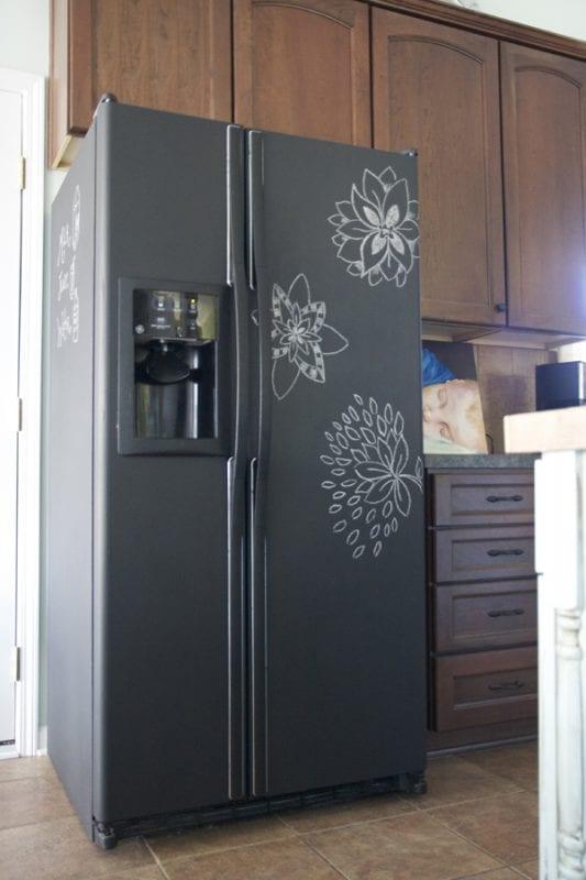 chalkboard fridge redo