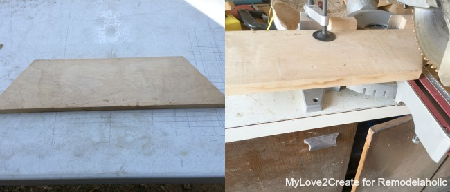 cutting food safe cutting board, MyLove2Create for Remodelaholic