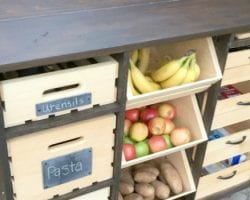 feat Awesome DIY kitchen island, full of storage! Mylove2create