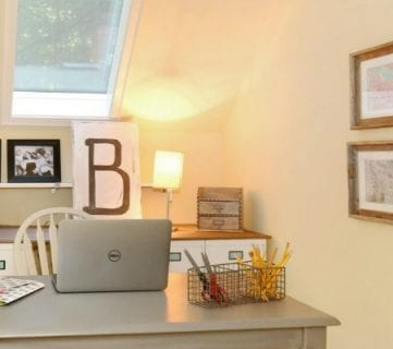 $250 Budget Home Office Makeover with DIY Filing Cabinet Desk