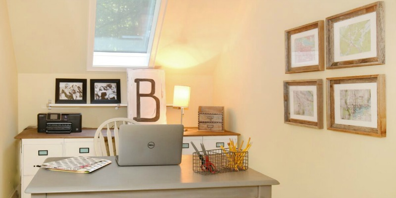 Remodelaholic 250 Budget Home Office Makeover With Diy