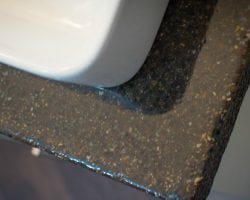 feat master bathroom renovation with DIY concrete countertops  Construction2Style on @Remodelaholic (24)