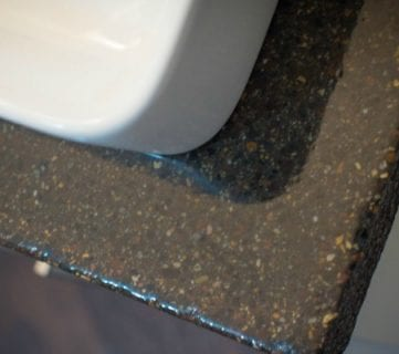 DIY Concrete Countertops in a Beautiful Master Bathroom Renovation