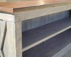 feat rustic X farmhouse sideboard @Remodelaholic