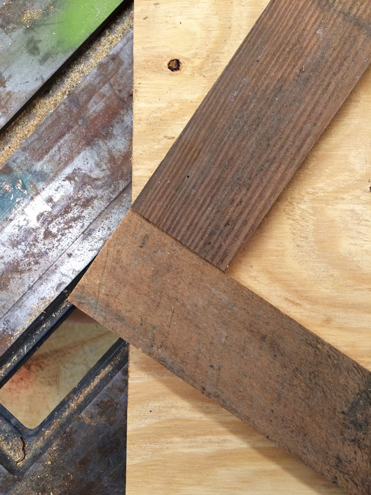 How to build a reclaimed wood (or new wood) herringbone coffee table top. The hairpin legs are a beautiful addition!