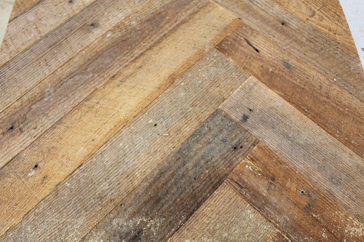 How the planks look when they are laid out on the tabletop