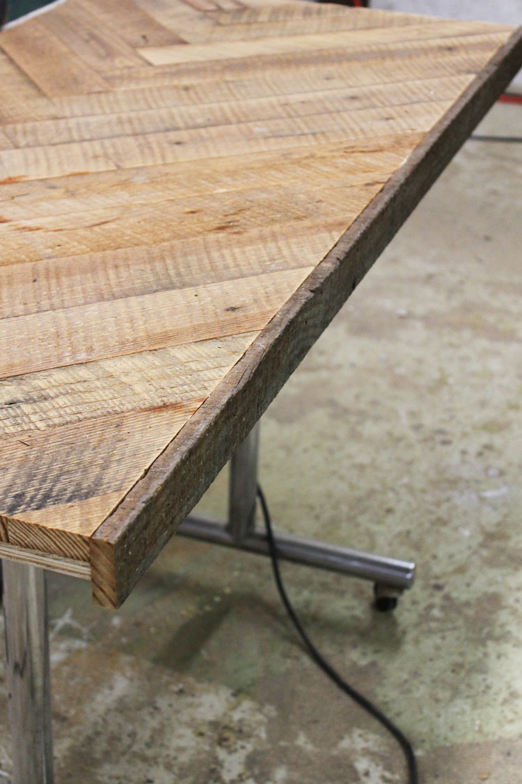 This DIY herringbone coffee table is beautiful! She used reclaimed wood but you could get the same look with new wood and creative staining. Way easier than it looks!